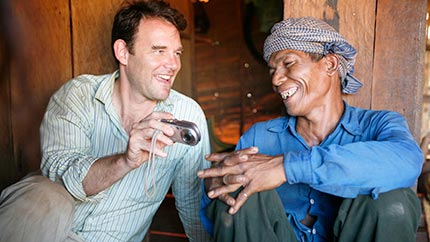 Faculty member Jonathan Padwe doing field research in northeast Cambodia